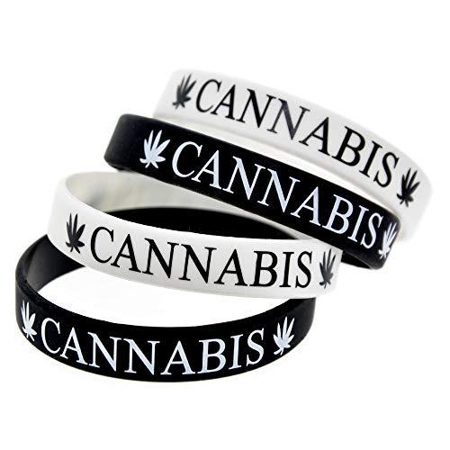 ZBDuDu 2 Stks Siliconen Armband Cannabis Leaf Trend Street Dance Punk Siliconen Armband Jamaica Reggae afdrukken Hand Band