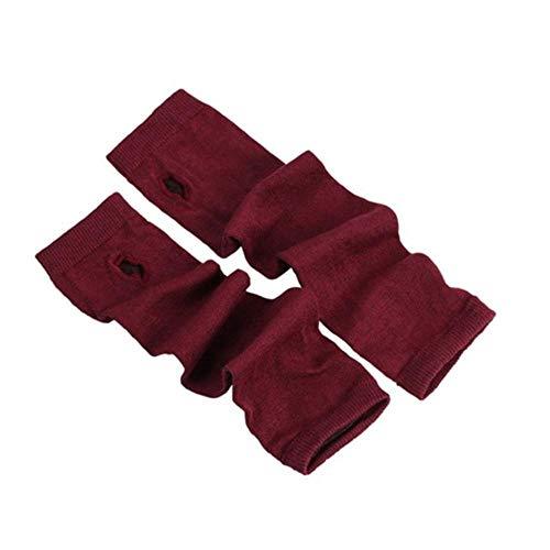 Houer Dames Meisjes Gebreide Vingerloze Lange Handschoenen Strepen Gedrukt Over elleboog Lengte Winter Rekbaar Armwarmer Mouwen met duimgat, 8