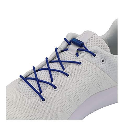 EazyShoelaces Elastische Schnürsenkel | Die runden stylischen Schnürsenkel mit Metal Lock-System | Nie mehr Schuhe binden (Dunkelblau)