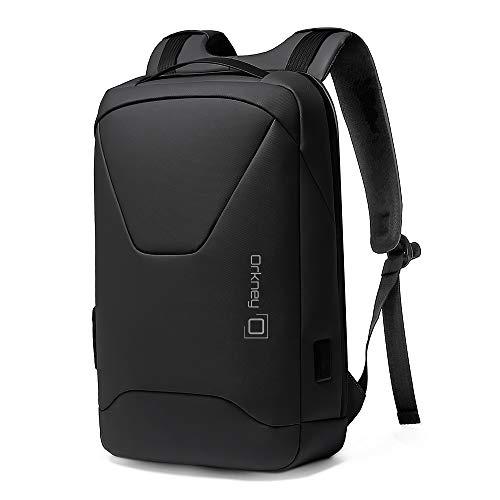 Orkney Laptop Rucksack - Diebstahlsicherung - Business Rucksack - wasserdicht - Modernes Design - TSA-Schloss, USB-Aufladung. (Schwarz)