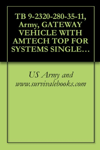 TB 9-2320-280-35-11, Army, GATEWAY VEHICLE WITH AMTECH TOP FOR SYSTEMS SINGLE CHANNEL GROUND AND AIRBORNE RADIO SYSTEM (SINCGARS) AN/VRC-88F, AN/VRC-90F ... 2/4-DOOR: CARGO/TROOP CARRIER, 1-1/4 T