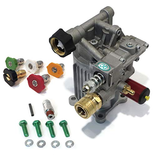 pumps-n-more priority shipping New Pressure Washer Pump KIT Replaces A14292 Excell Full ONE Year Warranty - Includes Thermal Relief Valve and Engine Shaft Key