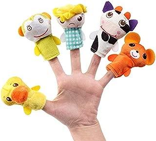 Wanj Cartoon Animal Finger Puppet, Children Educational Dolls Toys, Finger Puppets (Bed Time Story Telling for Kids/Babies/Children/Toddler) 5 Pcs