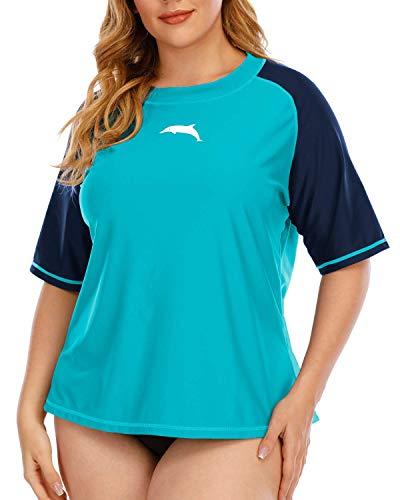 Halcurt Camiseta de manga corta para mujer, protección UV UPF 50+, protección...