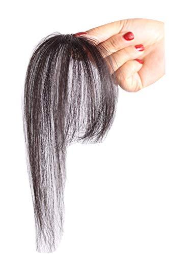 TOPJIN Extensions de cheveux humains raides 3D à clipser - Couleur naturelle