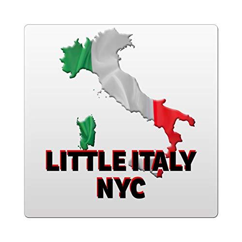 Makoroni - Little Italy NYC Italy Italian Des#3 Ceramic Tile Trivet 6x6 inc