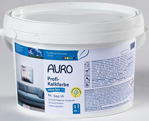 AURO Profi-Kalkfarbe extra fein - weiß - Nr. 344-16 - 1 Liter