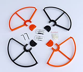 SummitLink Snap On/Off Prop Guards 2X Orange 2X Black for DJI Phantom 1 2 3 Quick Connect Tool Free