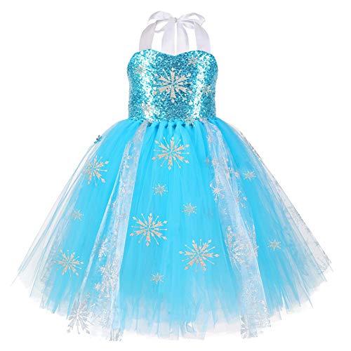Gonna in tulle blu da ragazza, principessa in rete Abito. M