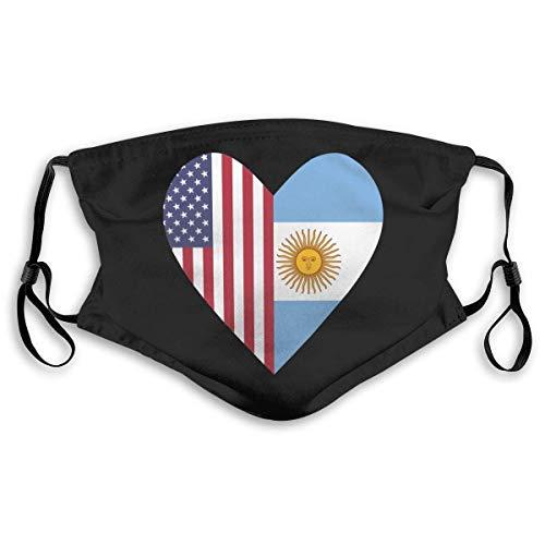 Halb Südkorea Flagge Halb USA Flagge Liebe Herz Gesichtsschal Gesichtsschutz Dekorationen mit 2 Filterchips