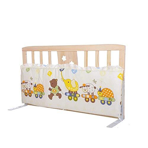 KOSGK Massiv trä säng skyddsräcke, baby sängkant staket anti-fall säkerhetsram (färg: A, storlek: 60 cm)