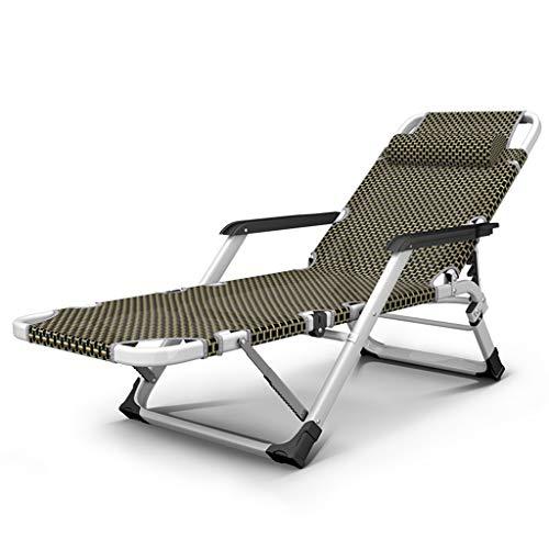 Zero Gravity Lounge Chair Fauteuil inclinable et inclinable réglable Chaise longue Lit bébé Camping Plage de sable Chaise longue (Couleur : Chair)