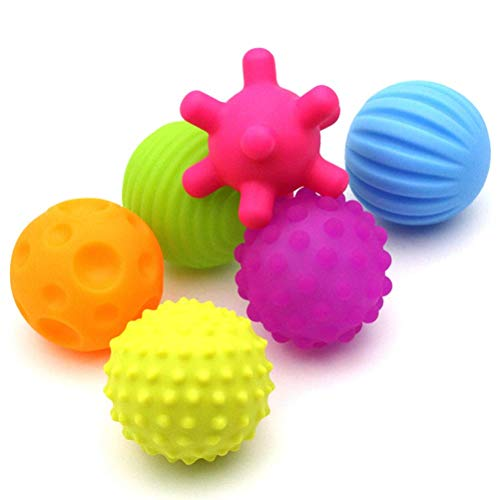 DUOCACL Balles pour bébés et Tout-Petits - balles sensorielles colorées Douces Meilleures texturées Multi-Jouets tactiles Jouets sensoriels pour bébés