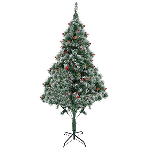 Steagoner Christmas Tree Holiday Decoration Artificial Xmas Tree with Solid Metal Legs, 6ft/7ft Artificial Christmas Tree Perfect for Indoor and Outdoor Holiday Decoration (7FT)