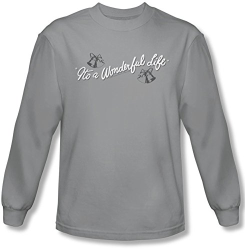 Its A Wonderful Life - Logo Tee shirt manches longues Homme En Argent, X-Large, Silver