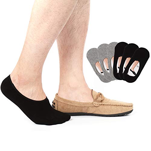 6 pair Mens No Show Socks Non Slip Thin no see Invisible Boat Liner Loafer Sock