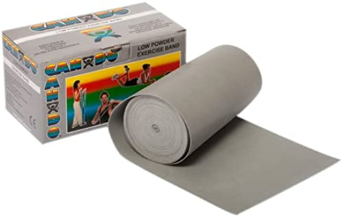 CanDo Latex-Free Exercise Band, Silber, 25 Yard Dispenser