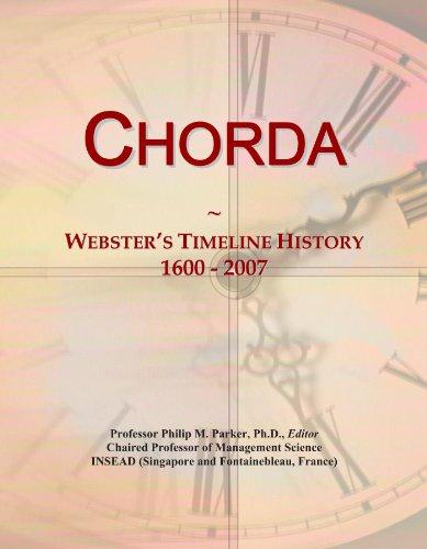 Chorda: Webster's Timeline History, 1600 - 2007