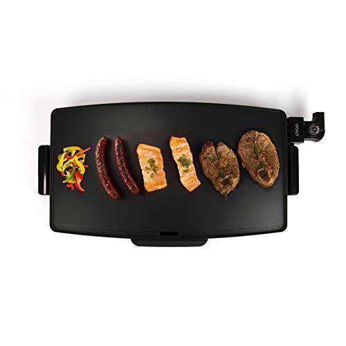 Tischgrill Elektrisch Große Grillfläche Elektrogrill XXL Grillplatte Alu (Teppan Yaki Grill, 2400 Watt, Antihaftbeschichtung, Großer Party Grill, 60 x 34)