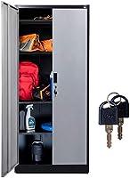 "Fedmax Metal Storage Cabinet - 71"" Tall w/ Locking Doors & Adjustable Shelves - Steel Utility Cabinets For Garage,..."