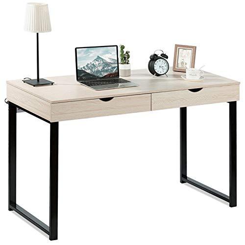 Escritorio de Computadora Escritorio del ordenador portátil del escritorio del escritorio del escritorio del escritorio del estado de estudio Soporte del cuaderno con 2 cajones Muebles de Oficina