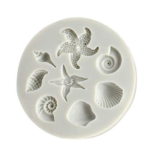 Kuchenform, Meerestiere, Muschelschalen, Fondant, DIY-Backwerkzeug, Süßigkeiten, Kuchen, Sommerparty, Kuchen, Backwaren, Dekorationswerkzeuge