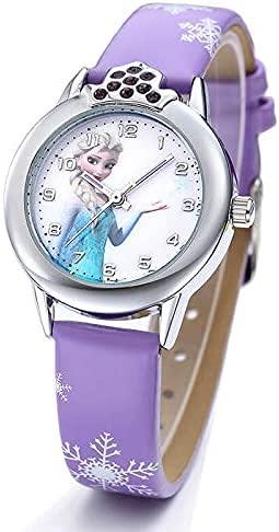 Uhren Armbanduhr Mädchen ELSA Frozen Eiskönigin Armbanduhr Geschenk Mädchen und Baby lila