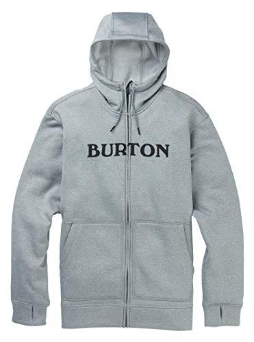 Burton Mens Oak Full Zip, Gray Heather, Small