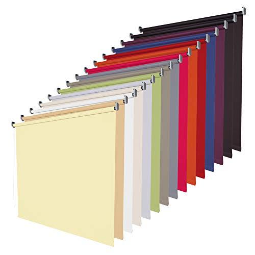 Verdunklungsrollo Seitenzugrollo Fenster Rollo - 14 Farben - Breite 62 bis 202 cm - Bedienung Kettenzug - verdunkelnd lichtundurchlässig - Montage Wand Decke (Größe 202 x 180 cm, Farbe Schwarz)