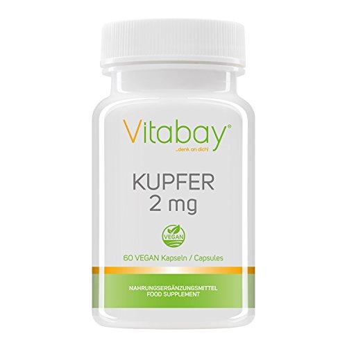 Rame 2 mg - gluconato di rame - puro vegano e naturale - 60 capsule vegane