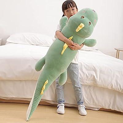 "47.2"" Dinosaur Plush Toy Pillow,Cute Dinosaur Stuffed Animals Doll,Soft Lumbar Back Cushion Big Dinosaur Plushies Stuffed Toy Cute Pillows,Great Gift for Kids Birthday,Valentine from Meow Wang"