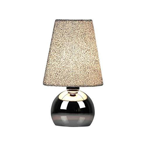 HTL Lámpara de Mesa de Moda Lámpara de Noche de la Lámpara de Aleación Nórdica Lámpara de Mesa Simple Moderna Moderna Sala de Bodas Lámparas de Atenuación Lámparas para Dormitorio (Interruptor: Inter