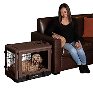 """Pet Gear """"The Other Door"""" 4 Door Steel Crate with Plush Bed + Travel Bag for Cats/Dogs, Sets up in Seconds No Tools Required, Built-In Handle/Wheels"""