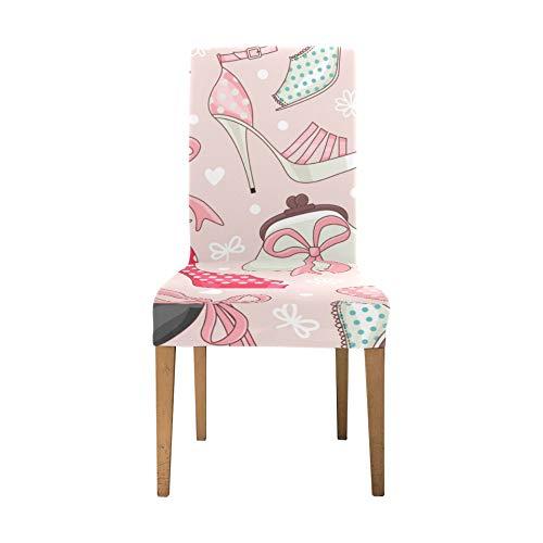 Elastische Stuhlhussen Creative Trend Fashion Pouch Clutch Wohnzimmer Stuhlhussen Soft Stretch Stretch Stuhlhussen für Esszimmer Waschbar Abnehmbare Rückenlehne Esszimmer Stuhlhussen