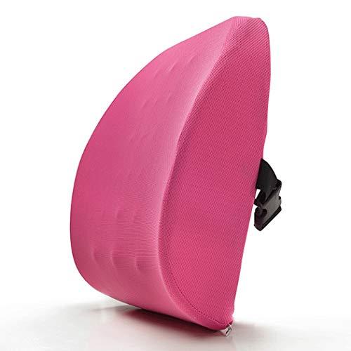 YONGYONG Coussin De Retour De Coussin De Bureau De Sofa De Bureau De Coton De Rebond De Mémoire De Rebond Haut Coussin De Dos De Rebond 38cm * 34cm * 10cm (Color : Pink, Size : 38cm*34cm*10cm)