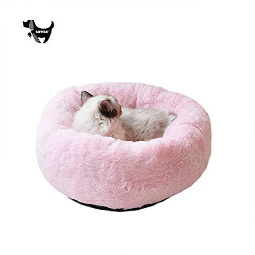 SAUWERAY Fluffy Hundebett mit Kissen, Lehnstuhl Pet Mat Kleine und mittlere Katzen und Hunde Winter warm Essential, Haustier Hund...