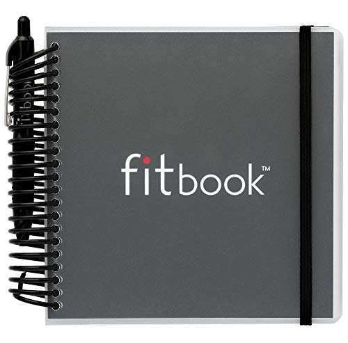 Product Image 1: Fitlosophy Fitbook: Fitness Journal and Planner for Workouts, Weight Loss and Exercise, Black Single (12-Week)