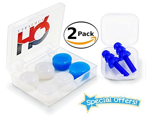 Reusable HQ Earplugs Set | Soft Silicone | Waterproof | for Swimming, Sleeping, Snoring, Concert, Shooting | Moldable Putty Ear Plugs, for Kids & Adults. Noise Cancelling & Work Protection (Set W/B)