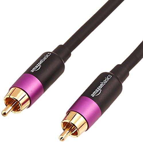 Amazon Basics Subwoofer Audio Cable  15Feet 10Pack