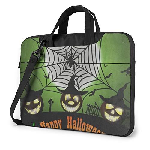 Happy Halloween Trick Or Treat Witch Laptop Bag Protective Case Computer Messenger Briefcase Women Men 13'