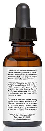 Vitamin C Serum for Face 20% with Hyaluronic Acid & Vitamin E, 1 fl. oz.