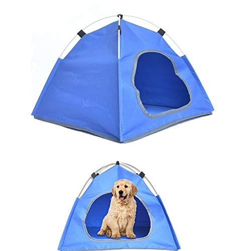 Gofeibao Casitas para Gatos Tienda de campaña para Perros Casa de Perro Plegable Cama de Gato Tienda para Perros Pop Up Casa de Perro Cama Interior Blue