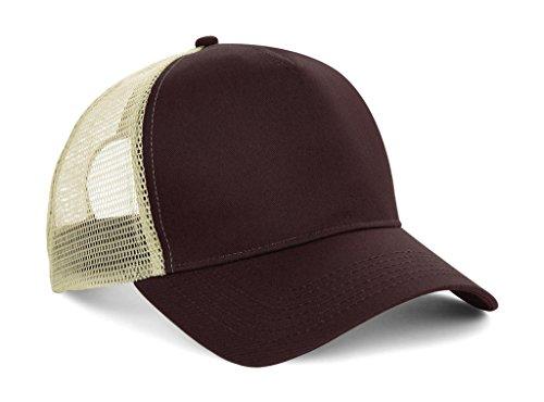 Gorra de béisbol de malla de marca Beechfield Marrón marrón talla única