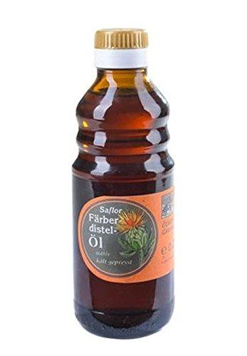 Kaltgepresstes Färberdistelöl / Distelöl - naturrein aus der O.E.L. Goldmühle - 250 ml u.a....