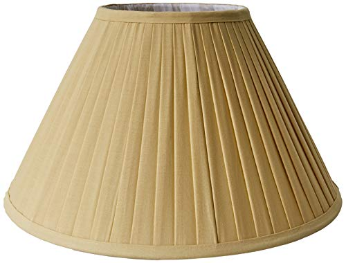 Better & Best Pantalla de lámpara de algodón, de 40 cm, tabla estrecha, color amarillo