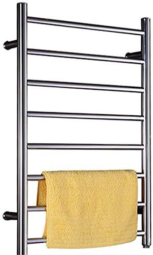Toallero Eléctrico Calentador de toallas, estante de toalla eléctrica inteligente pulida, Temperatura de secado de toalla de acero inoxidable de temperatura constante, se puede utilizar en baño de bañ