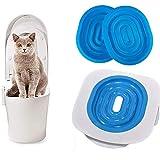 Yohappy Kit d'apprentissage de la propreté en plastique ABS pour chat, aide votre chat/chaton à utiliser les toilettes, 40 x 40 x 3,5 cm