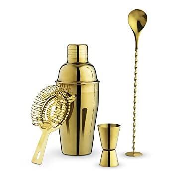 True Fabrication Gold Barware Set, Multicolor