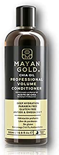 Mayan Gold Chia Oil Moisturizing, Frizz-Free, Volumizing Conditioner for Dry & Unruly Hair, 8.4 fl oz (250ml)