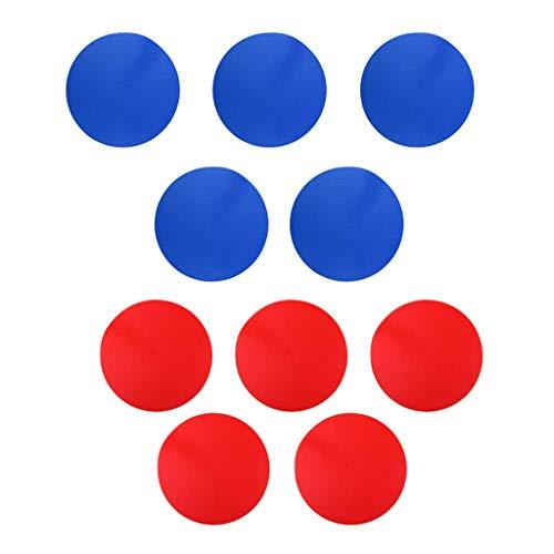 10PCS Marcadores de puntos deportivos Antideslizante Puntos de referencia Azul y rojo